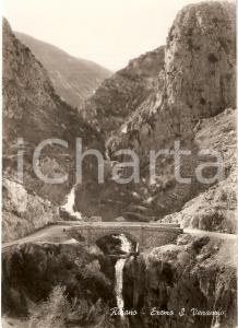 1955 ca RAIANO (AQ) Panorama EREMO DI SAN VENANZIO *Cartolina FG VG