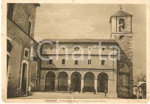 1939 PESCINA (AQ) Concattedrale SANTA MARIA DELLE GRAZIE Cartolina FG VG