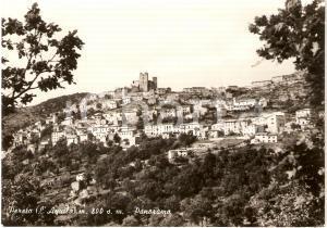 1950 ca PERETO (AQ) Veduta panoramica con Castello COLONNA *Cartolina FG VG