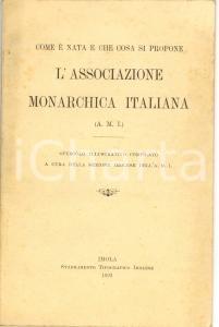 1923 IMOLA Avenati - Associazione Monarchica italiana