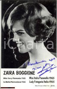 1965 ZAIRA BOGGIONE Miss Sexy Piemonte AUTOGRAFO