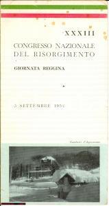 1954 GAMBARIE (RC) menù XXXIII Congresso Risorgimento
