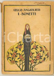 1923 Cecco ANGIOLIERI I Sonetti Ill. Gino MAGGIONI