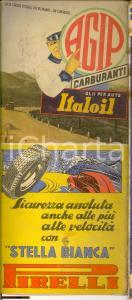 1939 RACI Carta automobilistica Italia PIRELLI AGIP
