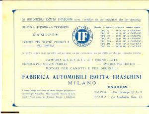1920 ca MILANO Isotta FRASCHINI Fabbrica Automobili