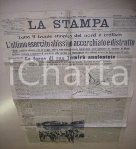 1936 LA STAMPA Italiani distruggono l'esercito abissino