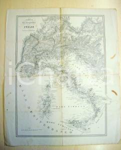 1800 TORINO Carta Oro-Idrografica ITALIA Tip. MAGGI