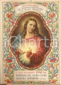 1941 ALBISOLA SUPERIORE (SV) Calendario SACRO CUORE