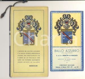 1937 TORINO ISTITUTO DEL NASTRO AZZURRO Libretto soci con calendario e invito