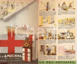 1939 GENOVA Usi bellici disinfettanti AMUCHINA