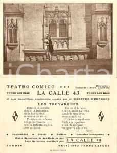 1940 ca BARCELLONA ES Los Trovadores MAESTRO GUERRERO