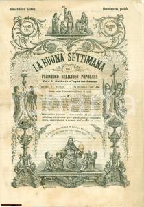 1877 Rivista LA BUONA SETTIMANA periodico religioso