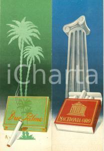 1940 circa Sigarette coloniali DUE PALME e MACEDONIA ORO