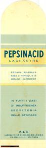 1940 circa BOLOGNA Segnalibro PEPSINACID LACHARTRE