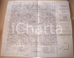 1950 ca VARZI (PV) Mappa territorio e sorgente 1935