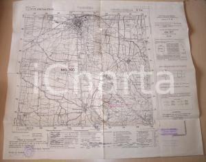 1960 VOGHERA Mappa territorio 1935 sorgente acquedotto