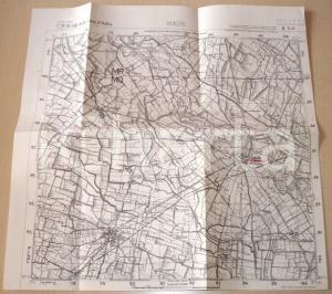 1950 ca MEDE (PV) Mappa territorio di Mede e LOMELLO