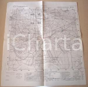 1950 ca ZINASCO (PV) Mappa del territorio rilievi 1935