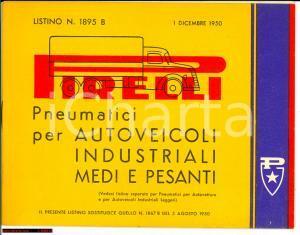 1950 MILANO listino PIRELLI pneumatici mezzi pesanti