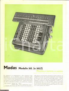 1940 ca MADAS Modello 20 L calcolatore a tastiera
