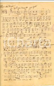 1890 Antonio ACERBI L'ampia notte Serenata INEDITA