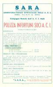 1949 PADOVA Assicuratrice SARA Campagna sociale A.C.I. Furti mobili