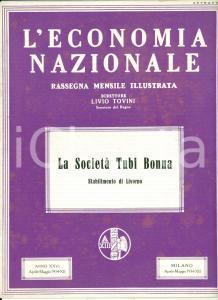 1934 LIVORNO La Società Tubi BONNA illustrato *L'Economia Nazionale rivista