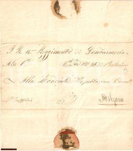 1857 PRALBOINO (BS) Dispaccio Militare Comando Gendarm.
