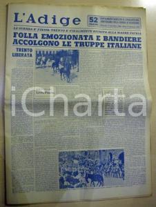 1968 L'ADIGE 50° Anniversario Guerra di Redenzione RARO