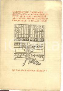 1925 PAVIA Concerto Romeo BARTOLI Globus Gaffurianus