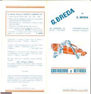 1962 COLLEGNO (TO) Costruzione e rettifica BREDA
