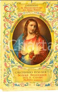 1939 ALBINO (BG) Calendario della Scuola Apostolica del SACRO CUORE *VINTAGE