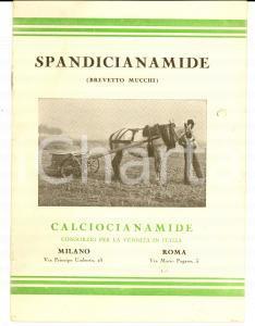 1930 ca La spandicianamide  modello MUCCHI *Opuscolo PUBBLICITARIO
