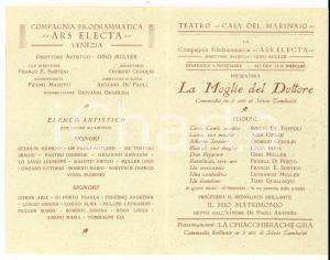 1927 VENEZIA Compagnia ARS ELECTA - La moglie del dottore *Gino MULLER