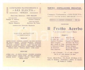 1927 VENEZIA Compagnia ARS ELECTA - Il frutto acerbo *Gino MULLER