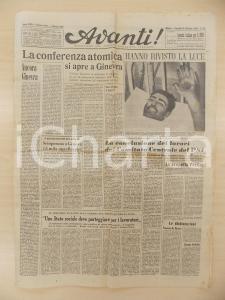 1958 AVANTI! Apertura conferenza atomica a Ginevra *Quotidiano anno LXII n° 259