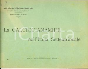1911 ROMA La CALCIOCIANAMIDE nell'Italia Settentrionale *Tipografia BODONI