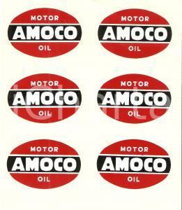1956 MILANO Meyercord Italiana AMOCO Motor oil *6 trasferibili