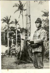 1941 MALACCA WW2 Sentinelle giapponesi nell'INDOCINA occupata *Fotografia