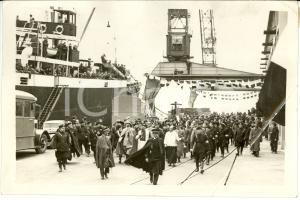 1936 Napoli UMBERTO II ASCALESI LANTINI inaugurano Magazzini Generali Pontile VE