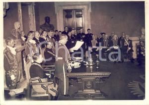 1938 ROMA ACCADEMIA D'ITALIA Luigi FEDERZONI commemora Gabriele D'ANNUNZIO *Foto