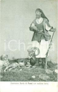 1930 FONNI (NUORO) Costumi sardi Cacciatore con muflone ferito *Cartolina FP NV