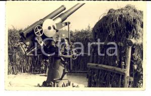 1940 ca WW2 Contraerea mimetizzata in un terrapieno *FOTO cartolina