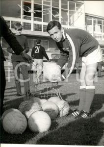 1966 MONDIALI CALCIO URSS Galimzjan CHUSAINOV raccoglie palloni *Foto 24x30