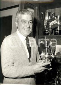 1980 ca ROMA TENNIS Marcello DEL BELLO tra i suoi trofei *Foto 24 x 30 cm