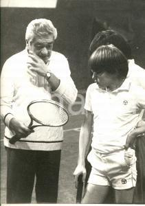 1980 ca ROMA TENNIS Marcello DEL BELLO allena i giovani *Foto 24 x 30 cm