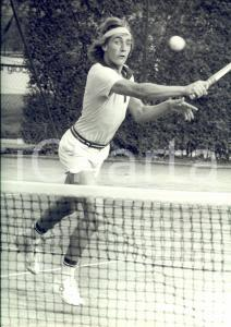 1980 ca TENNIS ITALIA Ritratto di Fabrizio DAVID in partita *Foto 24x30 cm