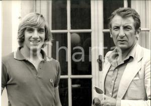 1980 ca TENNIS ITALIA Ritratto di Fabrizio DAVID con allenatore *Foto 30x24 cm