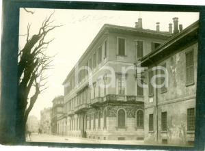 1910 ca MILANO Veduta Casa MELZI passaggio calesse *Vera fotografia