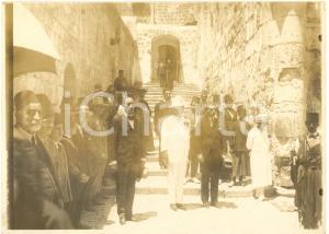 1925 Gerusalemme. Il Console d'Italia al Santo Sepolcro